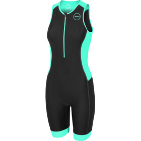 Zone3 Aquaflo Plus Triathlon-puku Naiset, black/grey/mint